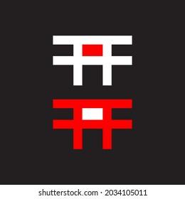 Torii logo japanese culture symbol vector illustration design, tori logo design. torii logo japanese culture symbol vector illustration design, tori logo design.