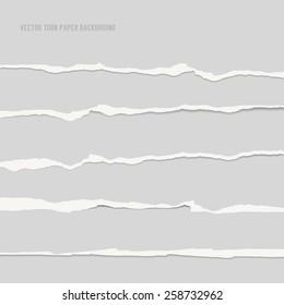 Torn paper background. Vector illustration.