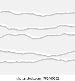 Torn Paper Edge. Vector illustration
