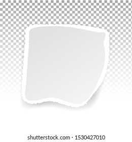 Torn paper holes. Hole in the sheet of paper on a transparent background for web and print