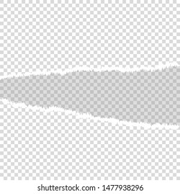 torn paper mock up blank space vector illustration