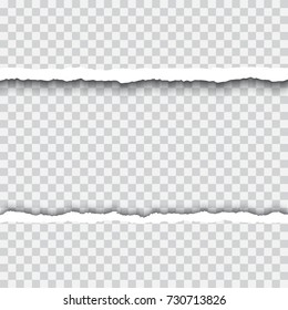 Torn paper realistic vector frame