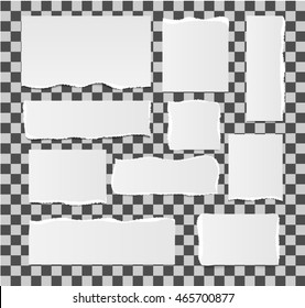 Torn paper set , isolated, vector illustration.