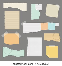 Torn paper set vector illustration isolated