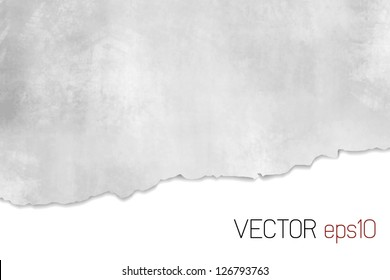 Torn paper texture - light abstract background grey white