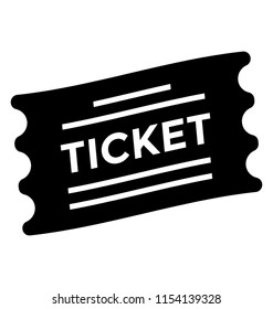 A torn pass with ticket text on it icon of voucher