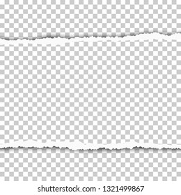 Torn, snatched piece of transparent paper. Vector template paper design.