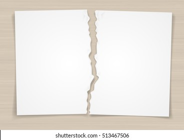 Torn In Half Paper Vector Images Stock Photos Vectors Shutterstock