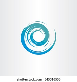 tornado blue water wave spiral vector circle background logo