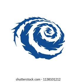 Tornado and Cyclone Logo Design Inspiration Vector