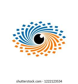 Tornado Eye Logo Design Template