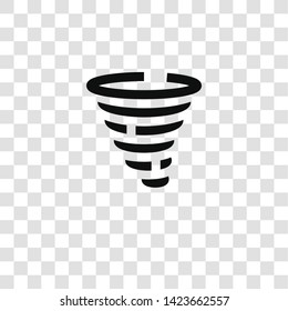 tornado icon from miscellaneous collection for mobile concept and web apps icon. Transparent outline, thin line tornado icon for website design and mobile, app development