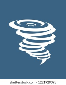Tornado icon. Simple illustration of tornado vector icon for web.Whirlwind sign. Tornado. Hurricane. Hurricane - storm.