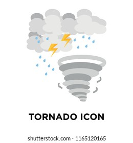 Tornado icon vector isolated on white background, Tornado transparent sign , weather symbols