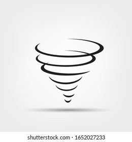 Tornado icon. Whirlwind storm sign isolated on white background