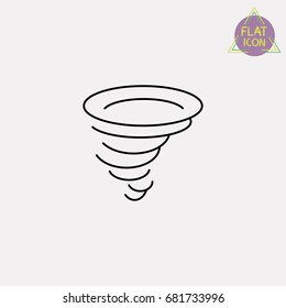 tornado line icon
