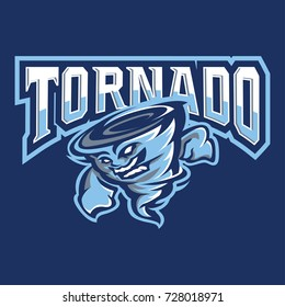Tornado Mascot and Sport Logo : Layered Vector Illustration