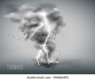 tornado on a simple background. Vector illustration EPS 10
