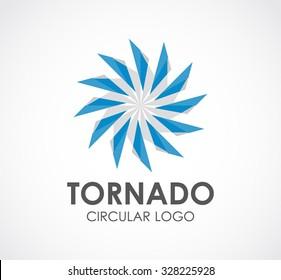 Tornado power circle abstract vector and logo design or template windmill business energy icon of technology company identity symbol concept