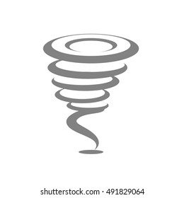 Tornado storm icon isolated on white background.