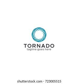 Tornado, vortex, hurricane logo template