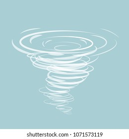 Tornadoes vector icon on the blue background