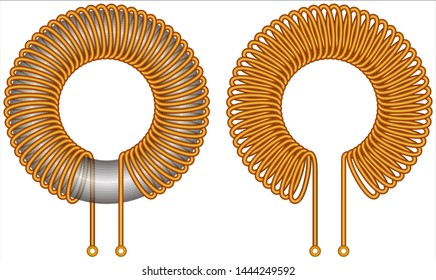 Toroidal iron Core - Air Core Coil Inductor