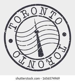 Toronto Canada Stamp Postal. Silhouette Seal. Passport Round Design. Vector Icon. Design Retro Travel. National Symbol.