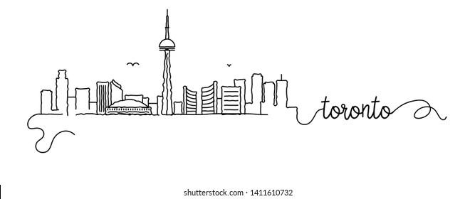 Toronto City Skyline Doodle Sign