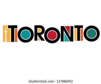 Toronto International Cities Indian Motive Illustration vector