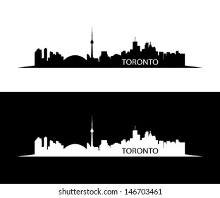 Toronto skyline - vector illustration