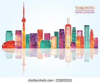 Toronto skyline. Vector illustration