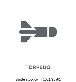 Torpedo icon. Torpedo design concept from Army collection. Simple element vector illustration on white background.