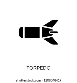 Torpedo icon. Torpedo symbol design from Army collection.