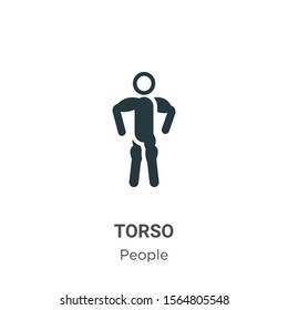 Torso vector icon on white background. Flat vector torso icon symbol sign from modern people collection for mobile concept and web apps design.