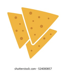 Tortilla chips or nachos tortillas flat vector color icon for apps and websites