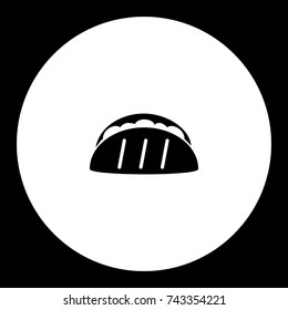 tortilla mexico fast food simple black icon eps10