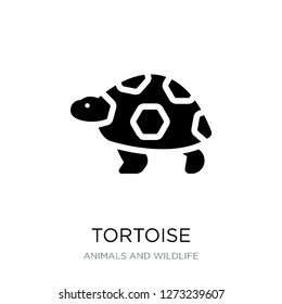 tortoise icon vector on white background, tortoise trendy filled icons from Animals and wildlife collection, tortoise simple element illustration