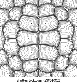 Tortoise shell background or pattern. Vector illustration.