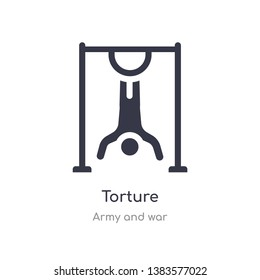 torture icon. isolated torture icon vector illustration from army and war collection. editable sing symbol can be use for web site and mobile app