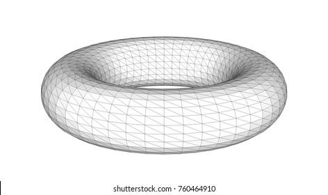 torus 3d geometry, vector