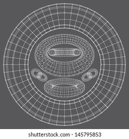 Torus Shapes Wireframe