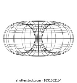Torus Topology Circle Geometry Mathematics on white background.