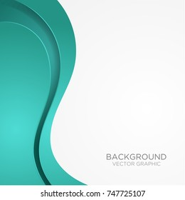 tosca curve wave line background on white space for text and message modern artwork design