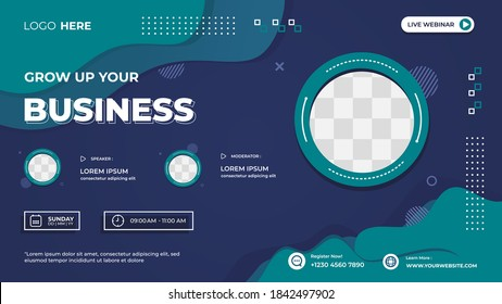 Tosca wave and Fluid background with memphis style, Suitable for web banner, business webinar, seminar, Online Courses, landing page, poster and many more