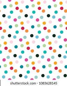 Tossed pattern design inspired by colorful confetti