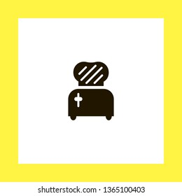 toster vector icon. flat design