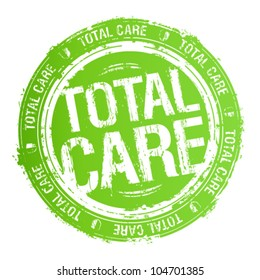 Total care rubber stamp.