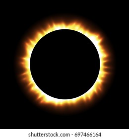 Total eclipse of the sun, eclipse background, vector illustration
