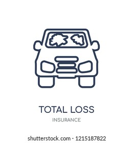 total loss icon. total loss linear symbol design from Insurance collection.